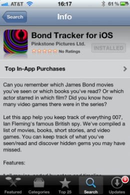 Bond Tracker for iOS
