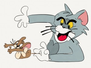 Tom & Jerry up to their old cat and mouse tricks