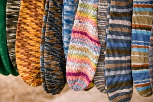 Once you start knitting socks you'll soon have a large collection.
