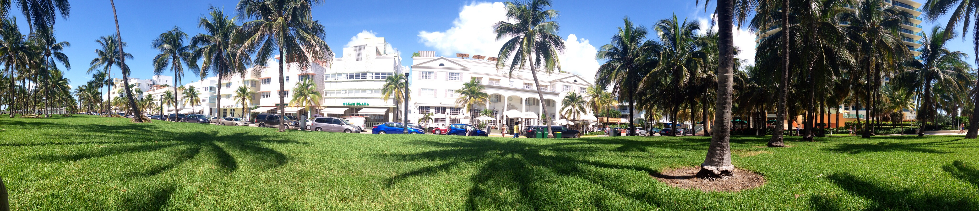 Panoramic View of Ocean Drive