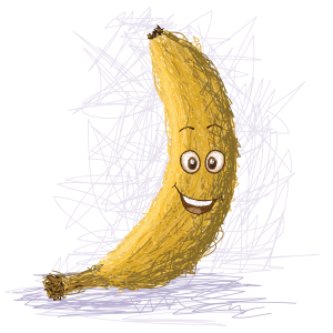 Did you know there are ancient Egyptian hieroglyphs that depict people with bananas?