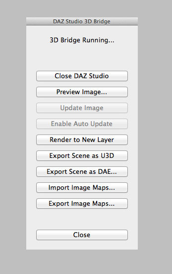 The 3D Bridge in Photoshop allows you to import and export image maps as well as scenes.