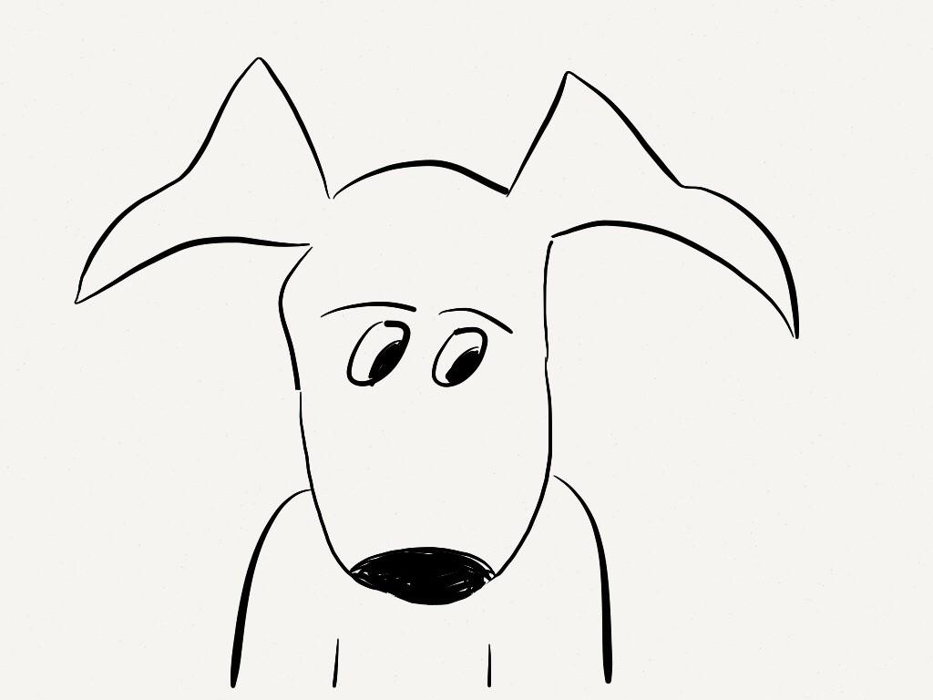 Pencil Dog Doodle