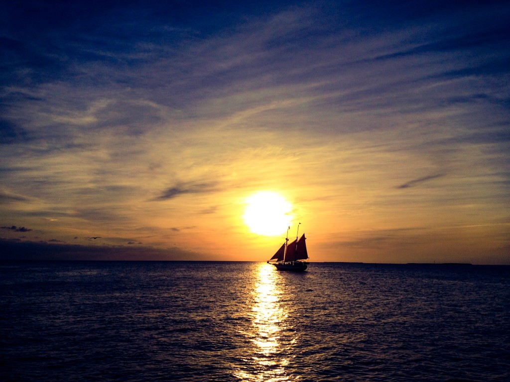No post on warmth would be complete without a sunset. Here's one I have taken at the famous Mallory Square sunset celebrations in Key West.