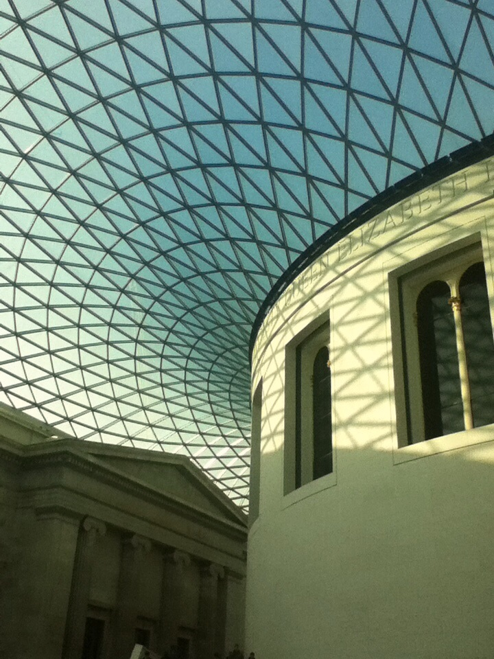 The British Museum in London has an amazing glass ceiling.
