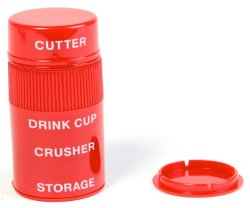 Also comes in red in case you want to have separate pill crushers for other family members
