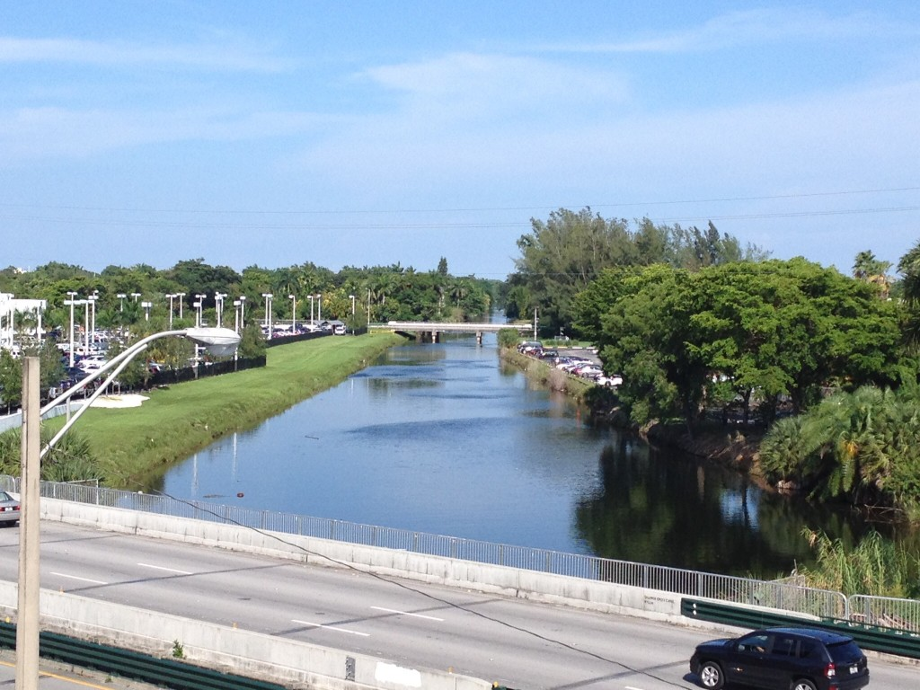 From the elevated station platform you get a great view of the Snapper Creek Canal